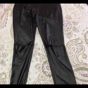 Size large faux leather leggings